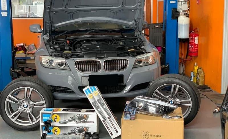 Động cơ xe BMW bị nóng bất thường