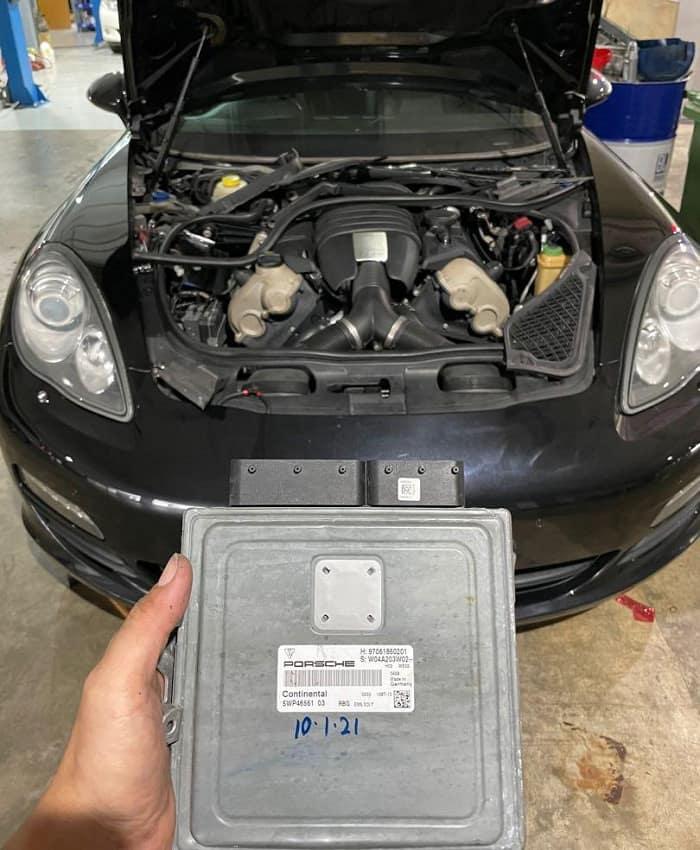 Quy trình sửa ô tô xe Porsche tại Tuning Service