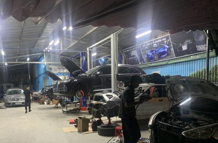 tìm kiếm một gara sửa chữa ô tô cao cấp