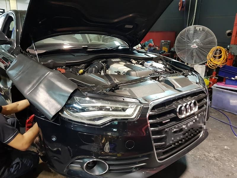 Lỗi trên hệ thống làm mát xe Audi